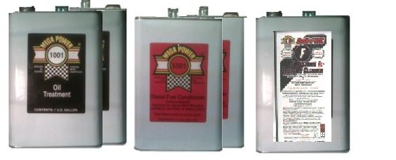 Mega Power Trucks/Equipment Oil Burn Treatment 5 pack. 3 to 10 gallon motor oil capacity engines.