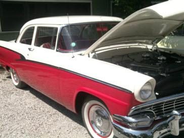 1955 Ford Classic restored. 50 60's colors cars proudly displayed. Classic Care Tip: Try Mega Power Additives: Keeps my classic cars running great and protected while in storage.