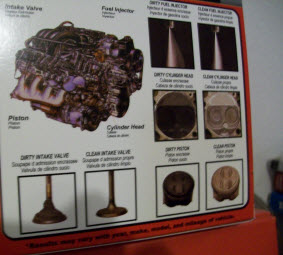 Mega Power Fuel Injector Cleaner Cleans all these dirty Motor parts for a future trouble free motor.