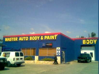 Master Body Repair and Paint. Zip 78666 Vehicle wreck repair specialist