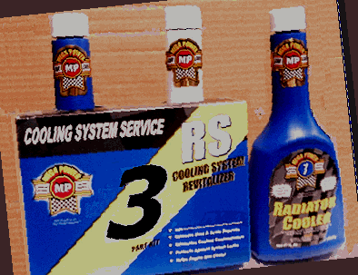 Mega Power car radiator service with stop leak, cool, and acid neutralizer. the right way to stop any leak, for better engine transmission cooling.