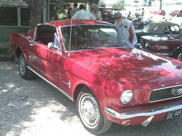 Nice 65 Ford Mustang Fastback. Riley's Tavern Classic Car Day. Hunter, Texas