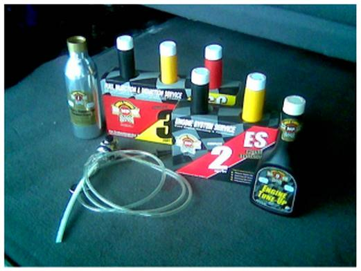 Engine burns oil control product from Mega Power. For cars, diesels big rigs